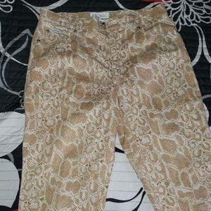 Escada snake skin patterned pants